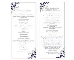 Wedding Reception Program Templates Free Template Download