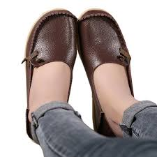 lucksender leather comfort driving loafers