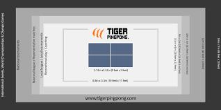 Tiger Pingpong Room Size Chart
