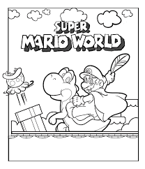 Super Mario Kleurplaat Kleurplaatploofr