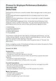 Employee Evaluation Responses Examples Dependability Self Newbloc