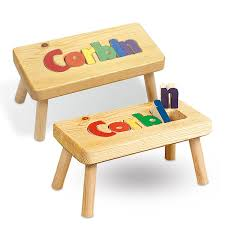 wooden name stool