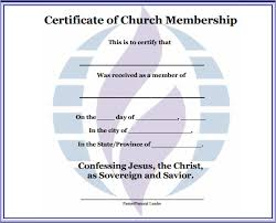 Best Photos Of Church Membership Certificate Template Printable