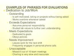 Employee Performance Assessment Examples Sample Employee Performance Self Appraisal Answers