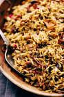 beefy rice pilaf with lentils