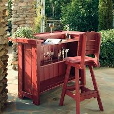 outdoor patio bar sets wood