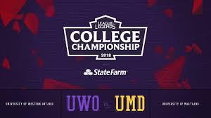 Umd Game Design Western Vs Maryland Quarterfinals Game 1 2018 College Championship Uwo Vs Umd