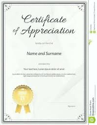 Employment Certificate Template Certificates Appreciation Free Of