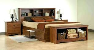 king size wood bed