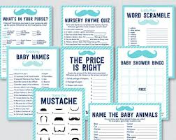 FREE Mustache Baby Shower Games  Baby Shower Ideas  Themes  GamesFree Printable Mustache Baby Shower Games