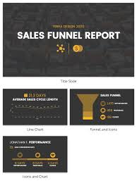 Simple Sales Report Simple Sales Funnel Report Template Venngage