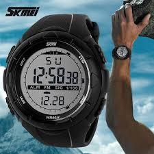 2018 New Skmei Brand <b>Men</b> LED Digital <b>Military Watch</b>, <b>50M</b> Dive ...