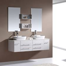 60augustinedoublevanitywhite3 Floating Bathroom Cabinet Height On With Hd  Resolution Ikea Floating Vanity Modern Bathroom Modern