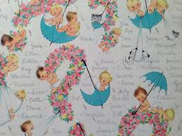 vine gift wrapping paper baby shower new baby namesake by hallmark what to name the baby 1 unused full sheet baby shower wrap