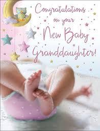 New Baby Girl Granddaughter Card Congratulations