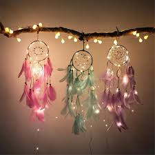 Lights For Us 5 2 27 Off Dreamcatcher Decor With 2m 20led Copper Wire Fairy String Lights For Girl Room Bell Bedroom Living Room Decoration Romantic Gift In