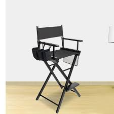 high quality solid hardwood polyester folding makeup chair