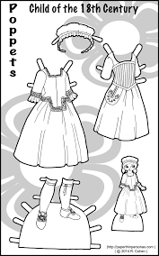 a 150 dpi png to color more poppet printable paper dolls one thing i do not have is a poppet doll with proper hair for the 18th century