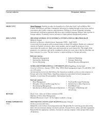 Resume Hotel Manager Resume