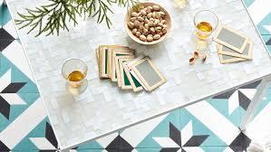 glass tile table