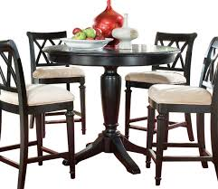 black counter height table and chairs awe inspiring thompson round dining by steve silver home