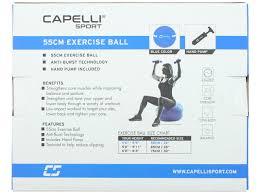 Body Ball Size Chart Fitness 55cm Exercise Ball Blue