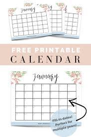 Calendar To Fill In Free Printable Fill In Floral Calendar Cassie Scroggins