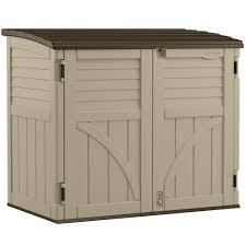 resin horizontal storage shed