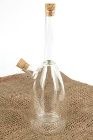 2 in 1 olive oil dispenser and vinegar bottle clear glass traditional design condiment