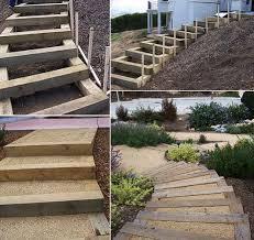 Der bau einer gartentreppe muss gut geplant sein, damit sich die treppe im garten perfekt einfügt. Gartentreppe Selber Bauen 35 Inspirationen Gartentreppe Palettengarten Garten