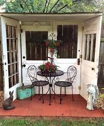 repurpose furniture ideas. Use 4 Old Doors To Make An Outside Reading Nook/Patio. Repurpose Furniture Ideas