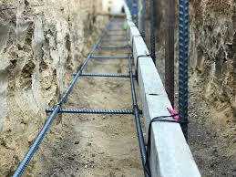 concrete block wall construction part 1
