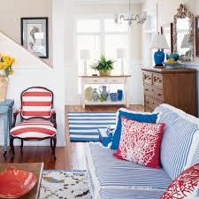 Red And Blue Living Room Beach House Color Ideas Coastal Living