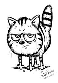 Image result for cartoon illustration of a angry cat