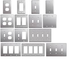 brushed nickel outlet covers. Wonderful Outlet Brushed Satin Nickel Stainless Steel Wall Covers Switch Plates U0026 Outlet  1 Of See More Intended