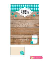 Free Bridal Shower Invite Templates Free Printable Rustic Bridal Shower Invitation Template Blue