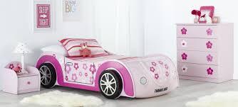 car themed bedroom furniture. Daisy Kids Car Bed And Themed Bedroom Furniture Suite With Pink White Striped Linen