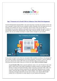 Good Cms Design Top 7 Features Of A Good Cms To Enhance Your Web