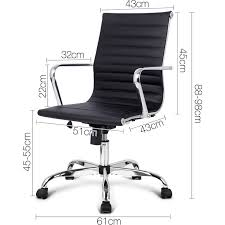 eames reproduction office chair. Chic Eames Replica PU Leather Office Chair In Black. H M S Remaining Reproduction