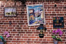 brick wall painting decorations style vintage
