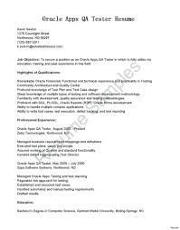 Manual Testing Resume Sample For Years Experience Fresher