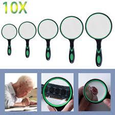 <b>3X</b> 4X 8X 10X Magnifying Glass <b>Portable Handheld</b> Magnifier for ...