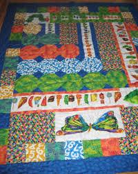 Children's Book Quilts . Booklights . PBS Parents | PBS & Very Hungry Caterpillar Quilt by Joan Scherf Adamdwight.com
