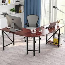Home office corner computer desk Wooden Large Lshaped Desk 67 Overstock Shop Large Lshaped Desk 67