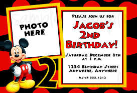 Party And Birthday Invitation Mickey Mouse Invitation Template Free