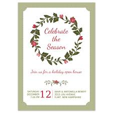 christmas party invitations holiday wreath design printed holiday party invitation christmas wreath