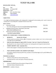 Objective In Resume For Fresh Graduate Gentileforda Com