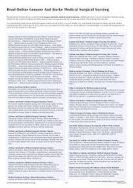 Lemone And Burke Medical Surgical Nursing | sg100.idcloudhost.com