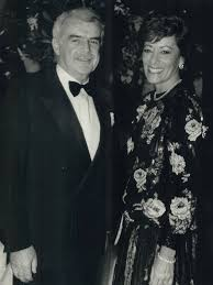 Above, co-chairmen Jack and Myra Daniels were hosts for the Toronto  Symphony gala. Myra Daniels wore a beaded floral Bill Blass creation. :  Digital Archive : Toronto Public Library