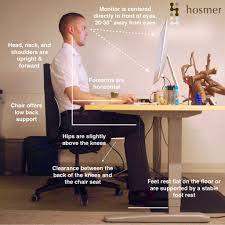 proper ergonomic desk workstation setup